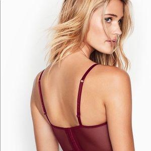 Victoria's Secret Intimates & Sleepwear - Victoria's Secret velvet long line bra shimmery
